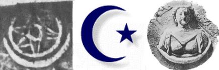 Vorislamischer und islamischer Halbmond sowie Glyphen Stern Wahrheiten jetzt! Geschichte der Himmelskörperanbetung