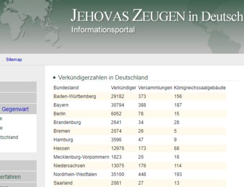 Jehovas Zeugen – Statistik beweist ein massives Aussterben